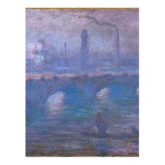 ウォータールー橋、クロード・モネ著霧深い朝 ポストカード