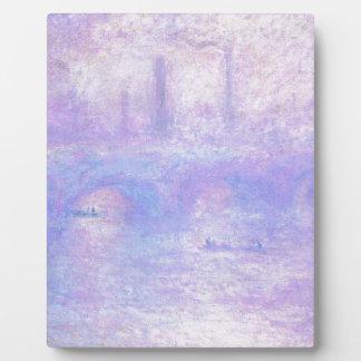 ウォータールー橋、クロード・モネ著霧 フォトプラーク