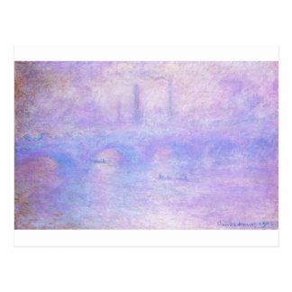 ウォータールー橋、クロード・モネ著霧 ポストカード