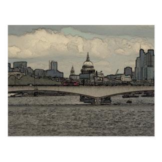 ウォータールー橋、ロンドン ポストカード