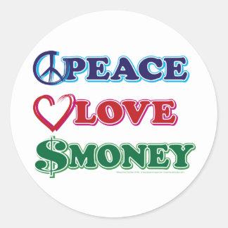 ウォールストリートか平和愛お金 ラウンドシール