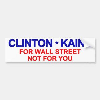 ウォールストリートのためのクリントンKaine バンパーステッカー