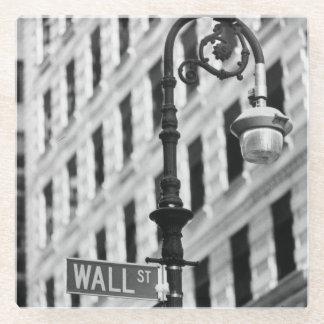 ウォールストリートの交差を示すシンボルや象徴 ガラスコースター