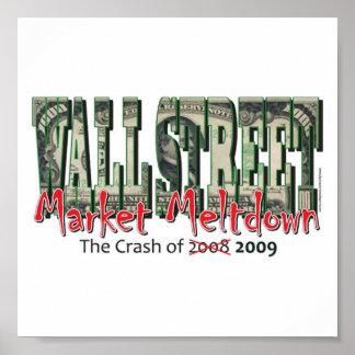 ウォールストリートの市場の溶解 ポスター