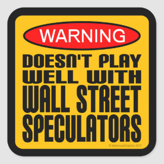 ウォールストリートの投機家とよく遊びません スクエアシール