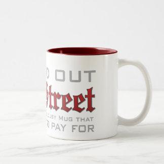 ウォールストリートはマグを救います ツートーンマグカップ