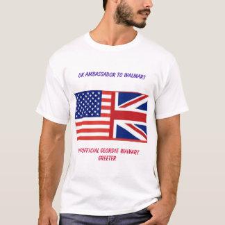 ウォールマート非公式なイギリスの(ASDA) GreeterのTシャツ Tシャツ