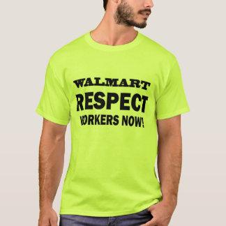 ウォールマート-今点の労働者! -公式のTシャツ Tシャツ