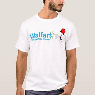 """ウォールマート""""Walfart""""のパロディのティー Tシャツ"""