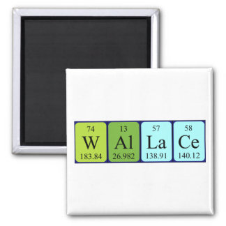 ウォーレスの周期表の名前の磁石 マグネット