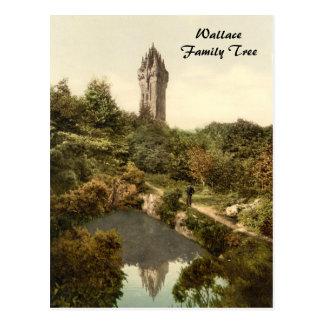 ウォーレス記念碑、スターリング、スコットランド ポストカード