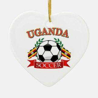 ウガンダのサッカーのデザイン セラミックオーナメント