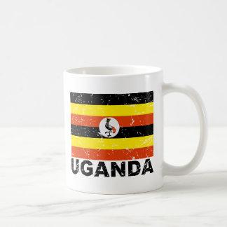 ウガンダのヴィンテージの旗 コーヒーマグカップ