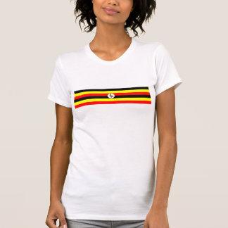 ウガンダの国旗の国家の記号 Tシャツ