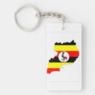 ウガンダの国旗の地図の形の記号 キーホルダー