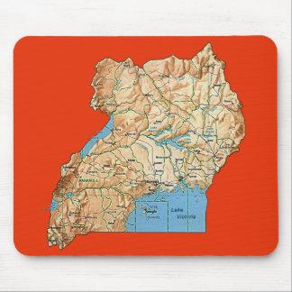 ウガンダの地図のマウスパッド マウスパッド