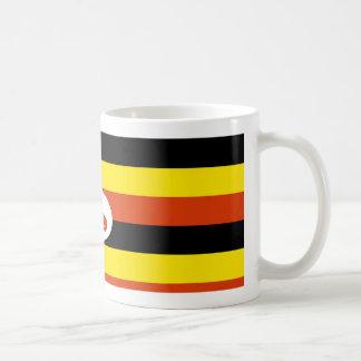 ウガンダの旗のコーヒー・マグ コーヒーマグカップ