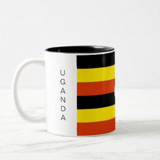 ウガンダの旗のマグ ツートーンマグカップ