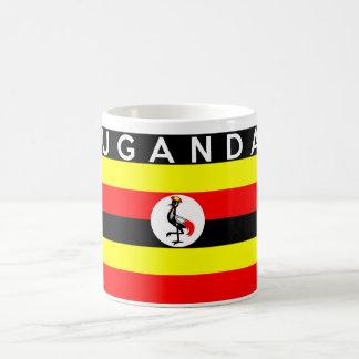 ウガンダの旗の国の文字の名前 コーヒーマグカップ