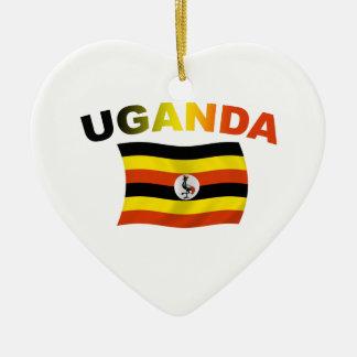 ウガンダの旗2 セラミックオーナメント