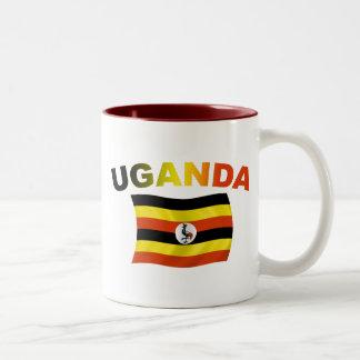 ウガンダの旗2 ツートーンマグカップ