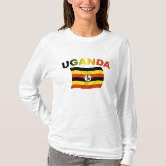 ウガンダの旗2 Tシャツ