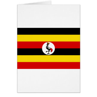 ウガンダの旗 カード
