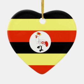 ウガンダの旗 セラミックオーナメント