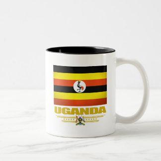 ウガンダの旗 ツートーンマグカップ