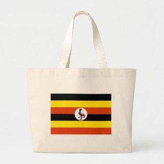 ウガンダの旗 ラージトートバッグ