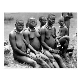 ウガンダの種族の女性 ポストカード