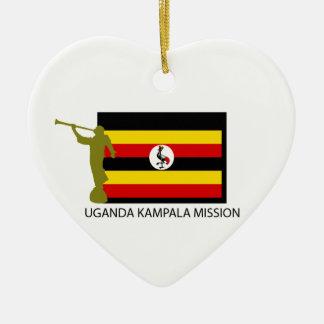 ウガンダカンパラの代表団LDS CTR セラミックオーナメント
