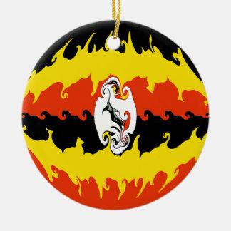 ウガンダ|すごい|旗 クリスマスツリーオーナメント