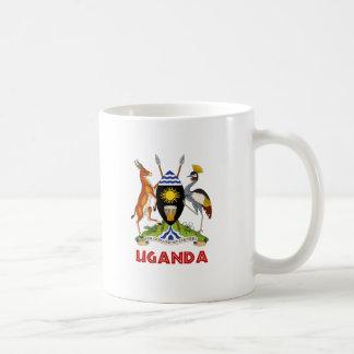 ウガンダ-または記号旗か紋章または紋章付き外衣 コーヒーマグカップ