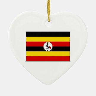 ウガンダ-ウガンダの旗 セラミックオーナメント