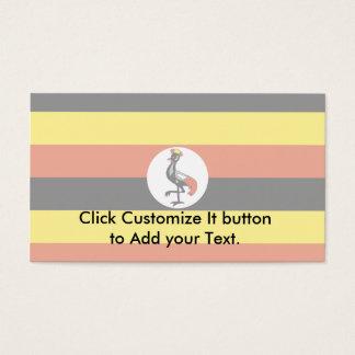 ウガンダ、ウガンダの旗 名刺