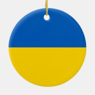 ウクライナのオーナメントの旗 セラミックオーナメント