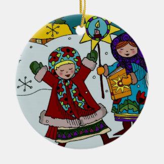 ウクライナのクリスマスの星 セラミックオーナメント