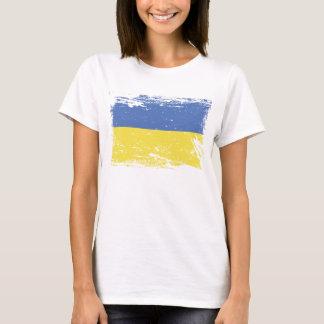 ウクライナのグランジな旗 Tシャツ