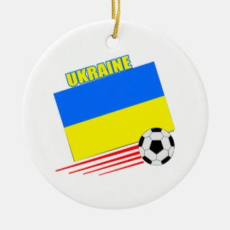 ウクライナのサッカーチーム セラミックオーナメント