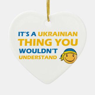 ウクライナのスマイリーのデザイン セラミックオーナメント