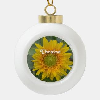 ウクライナのヒマワリ セラミックボールオーナメント