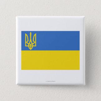 ウクライナの伝統的な旗 5.1CM 正方形バッジ