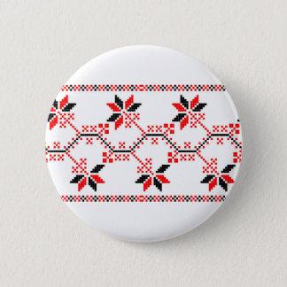 ウクライナの伝統的な民俗モチーフ民族の幾何学的なfl 缶バッジ