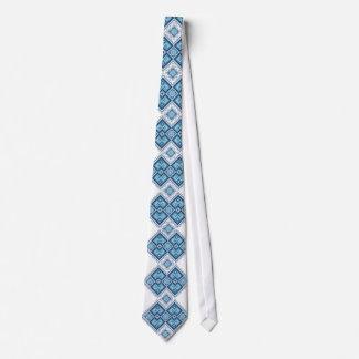ウクライナの刺繍の青のvyshyvanka ネクタイ