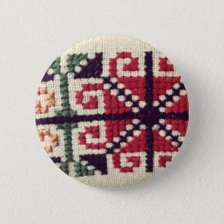 ウクライナの刺繍 缶バッジ