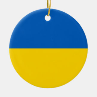 ウクライナの国旗 セラミックオーナメント