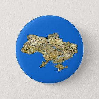 ウクライナの地図ボタン 缶バッジ