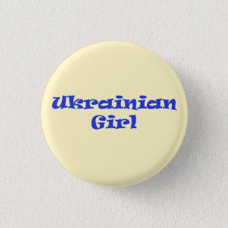 ウクライナの女の子 3.2CM 丸型バッジ
