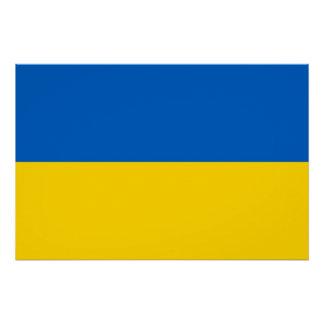 ウクライナの旗が付いている愛国心が強いポスター ポスター